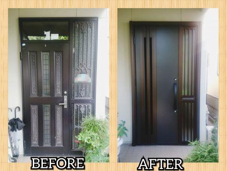 A様邸 玄関ドア取替